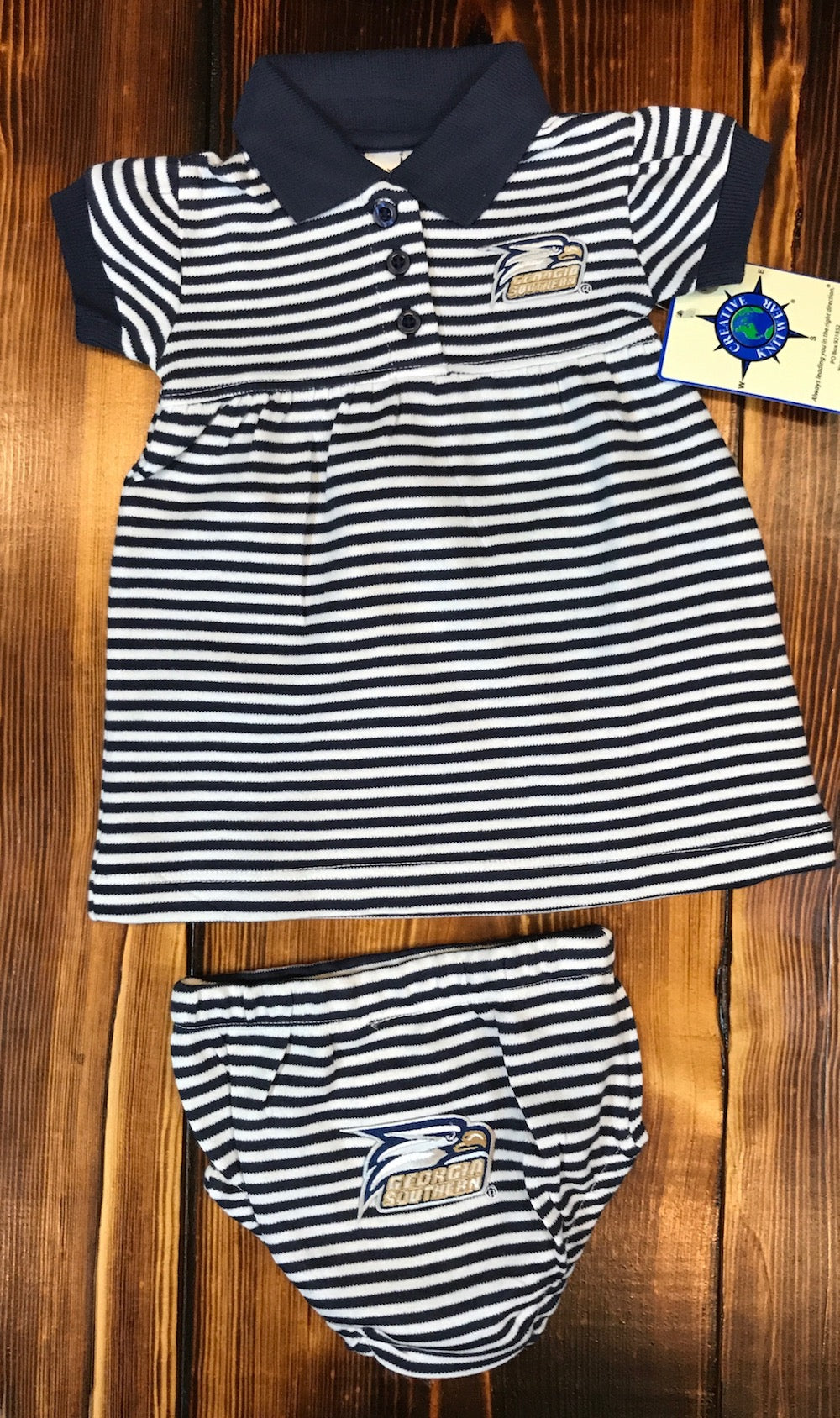 Stripe Gameday Dress w/Bloomers