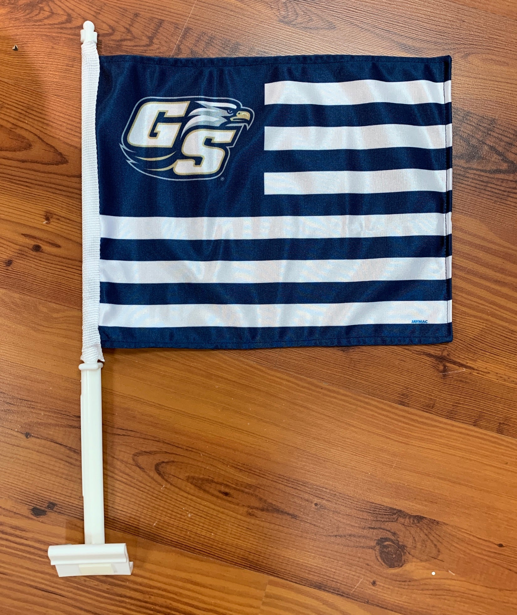 Car Flag - Eagle Nation Blue and White Stripe
