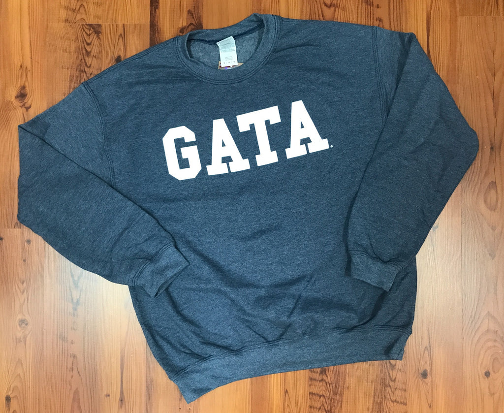 Classic GATA Crew Sweatshirt - Heather Denim