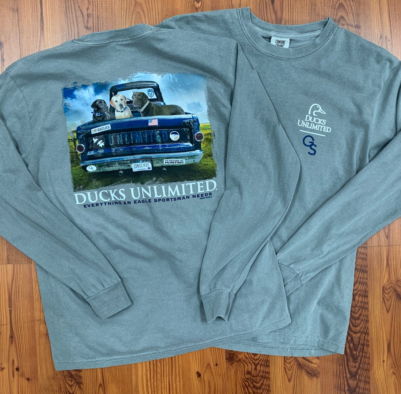 DUCKS UNLIMITED - Truck Bed - Comfort Colors Grey LONG SLEEVE