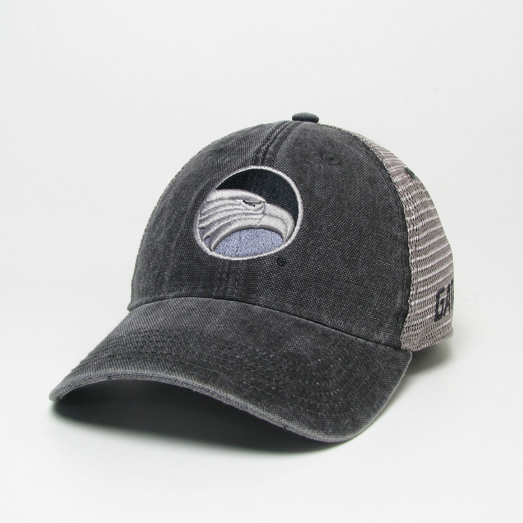 Dashboard Charcoal Canvas Trucker - Academic Eagle