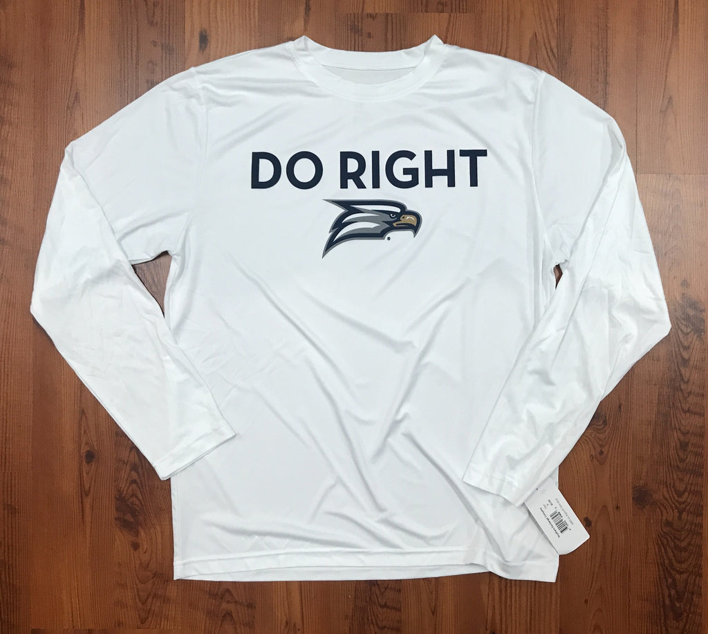 Do Right Long Sleeve Performance Tee - White