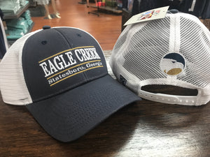 EAGLE CREEK Classic Bar Design - Blue and White Trucker Cap
