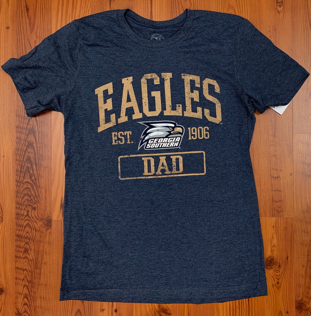Eagles DAD - Supersoft Heather Navy Tee