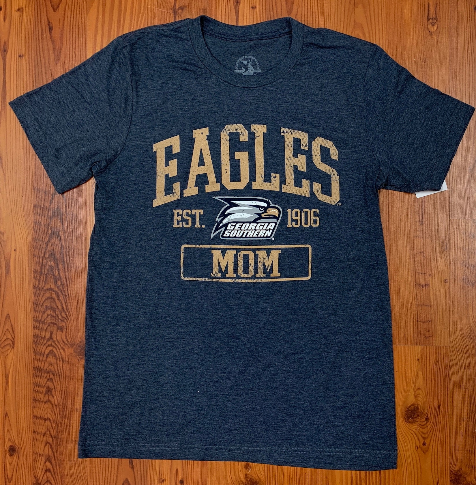 Eagles Mom - Supersoft Heather Navy Tee