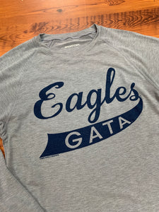 Erk Script Eagles - Short Sleeve Performance Heather