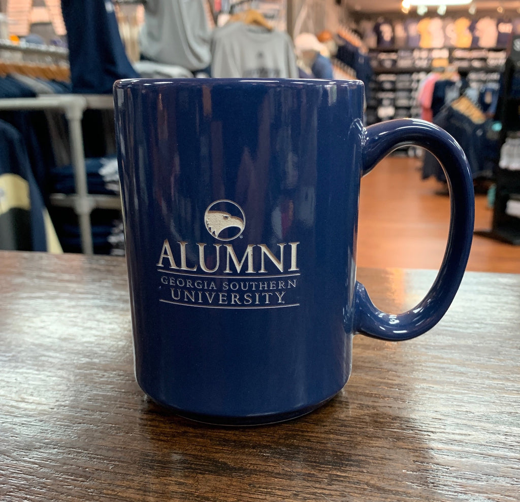 ALUMNI Etched Ceramic Coffee Mug - NAVY