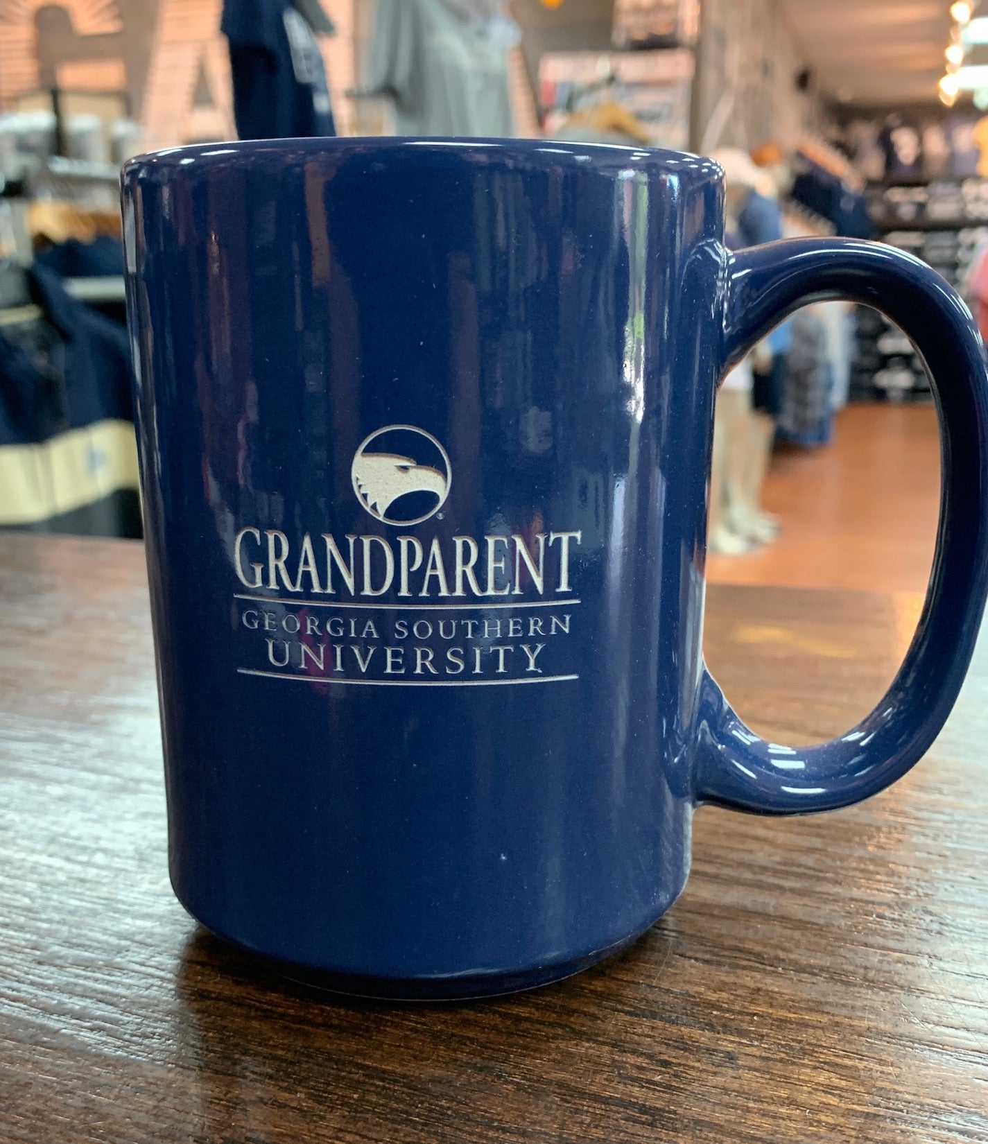 GRANDPARENT Etched Ceramic Coffee Mug - NAVY
