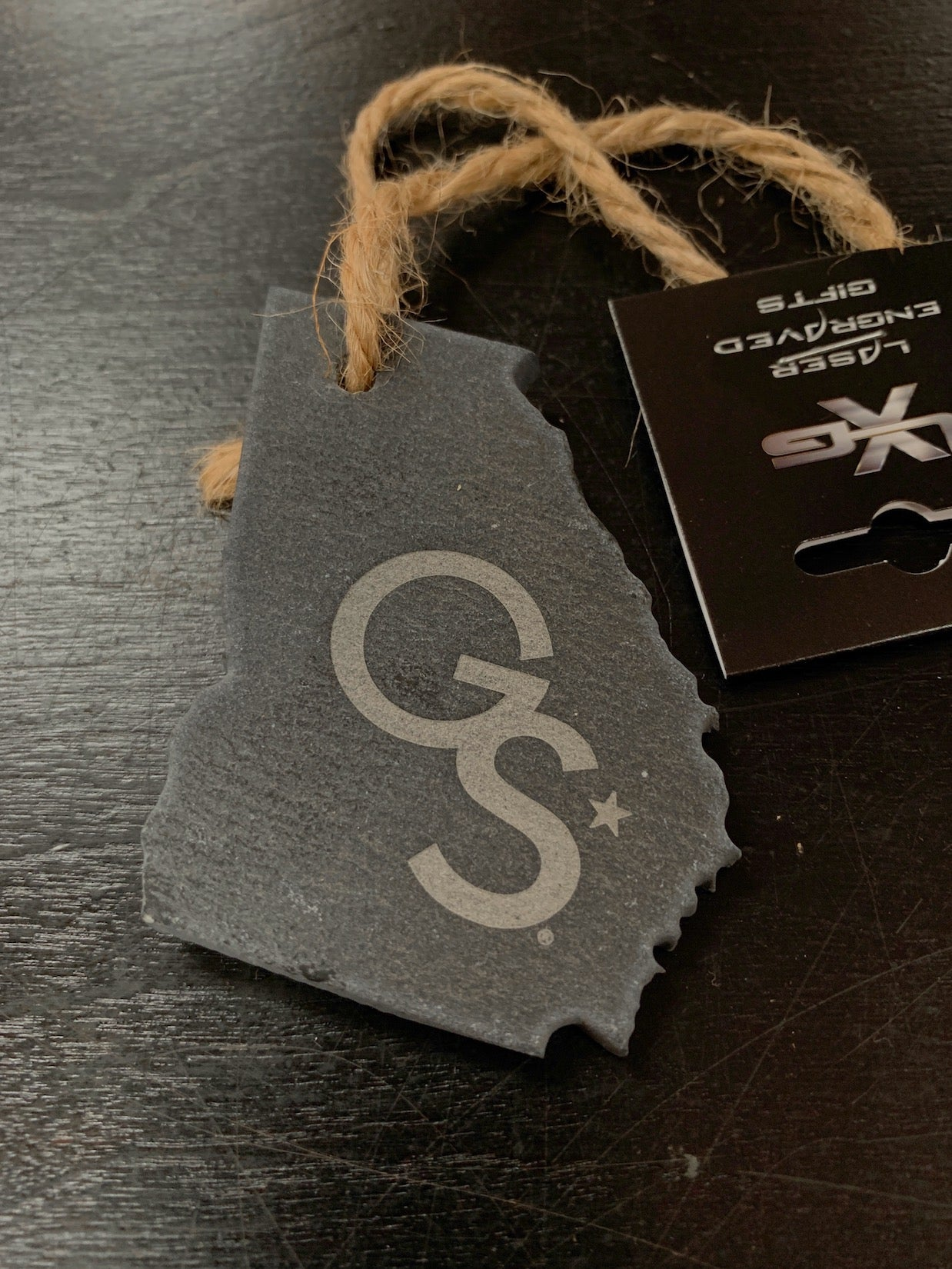Etched Slate GS State Ornament