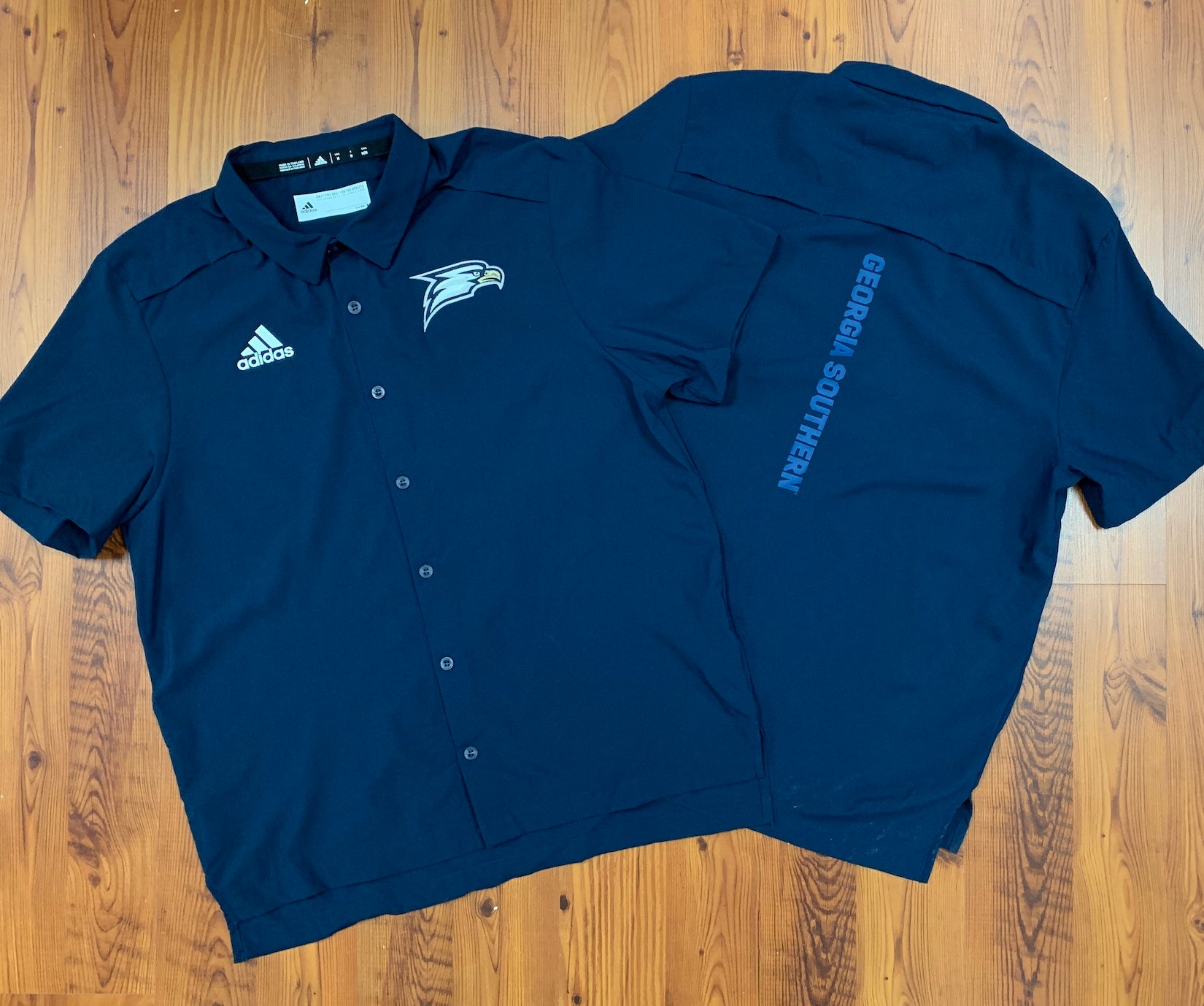 ADIDAS - Official Gear Full Button Short Sleeve - Navy