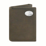 Trifold Wallet - Leather with Metal Concho