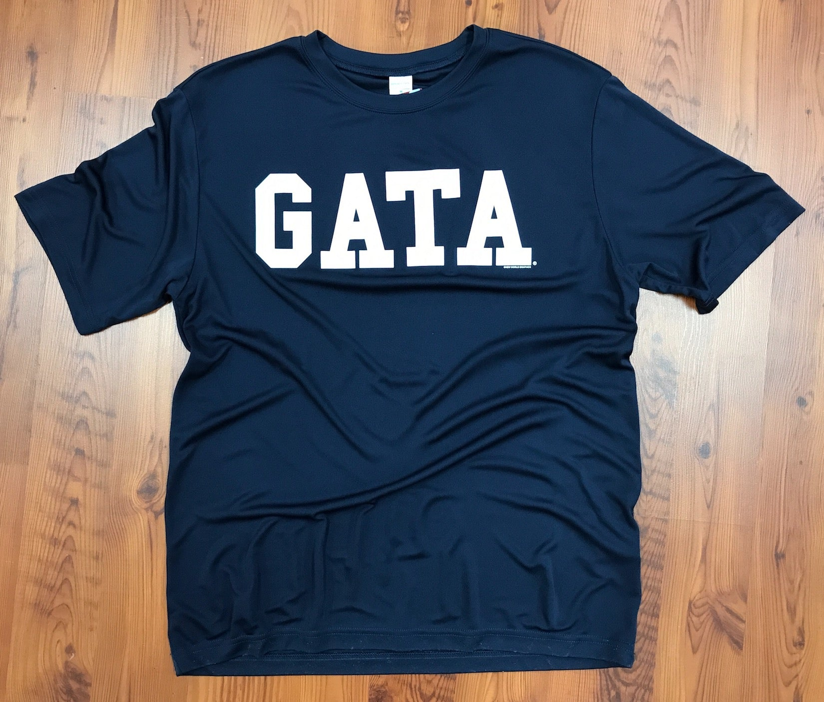 Classic GATA Short Sleeve Performance Tee - NAVY