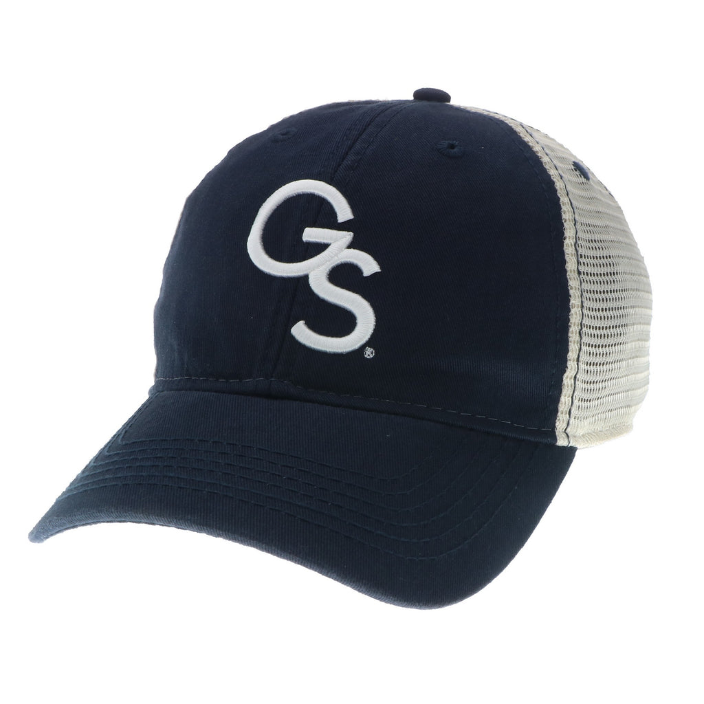 Interlocking GS Trucker Cap - Navy