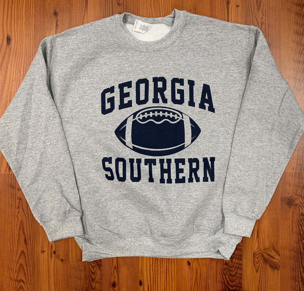 Classic Georgia Southern Football - Athletic Grey Sweatshirt