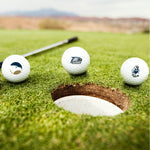 GS Multiple Logos Golf Balls- Set of Three