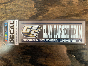 "CLAY TARGET TEAM Decal Sticker - 2"" x 6.5"""