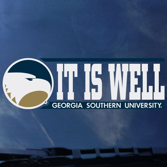 "IT IS WELL Decal Sticker - 2"" x 6.5"""