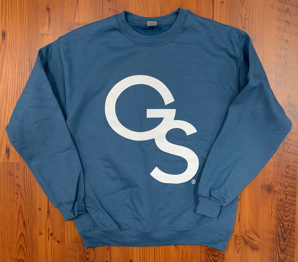 Interlocking GS Logo Crew Sweatshirt - Indigo Blue