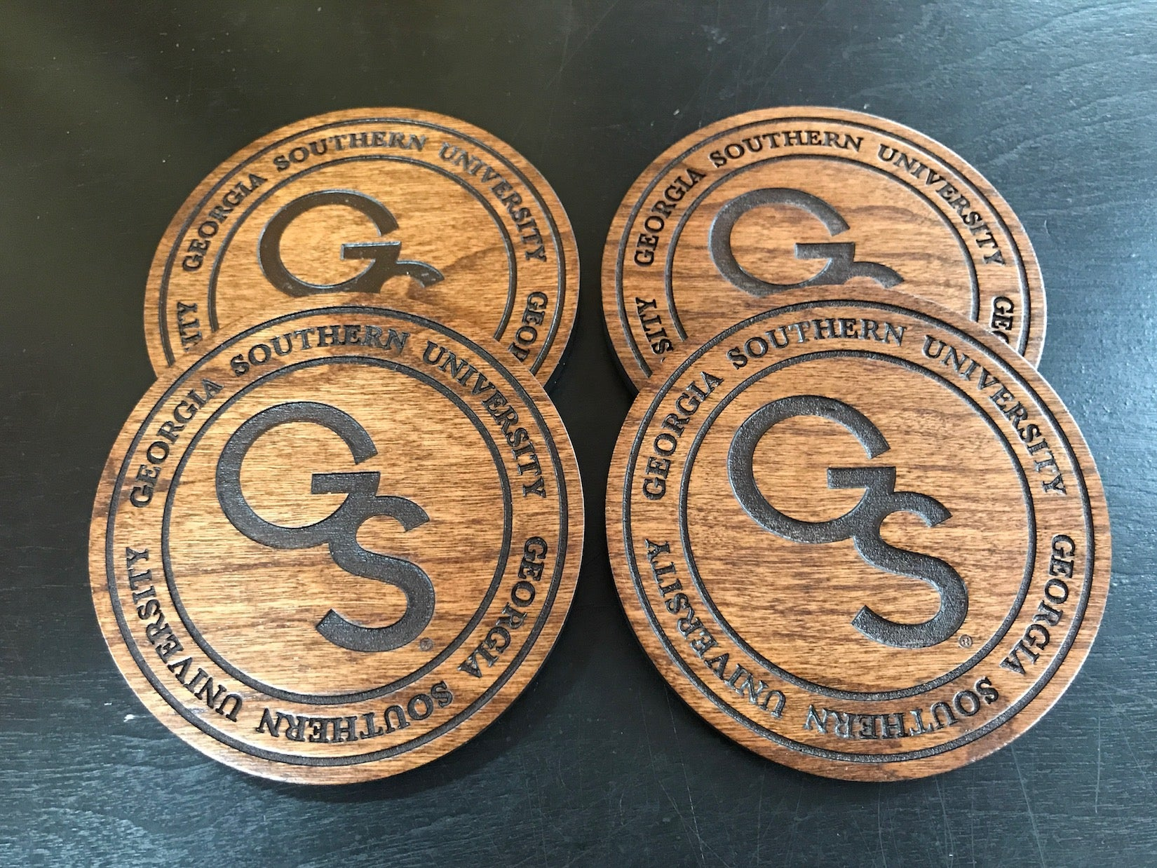 Interlocking GS Wooden Coasters Set