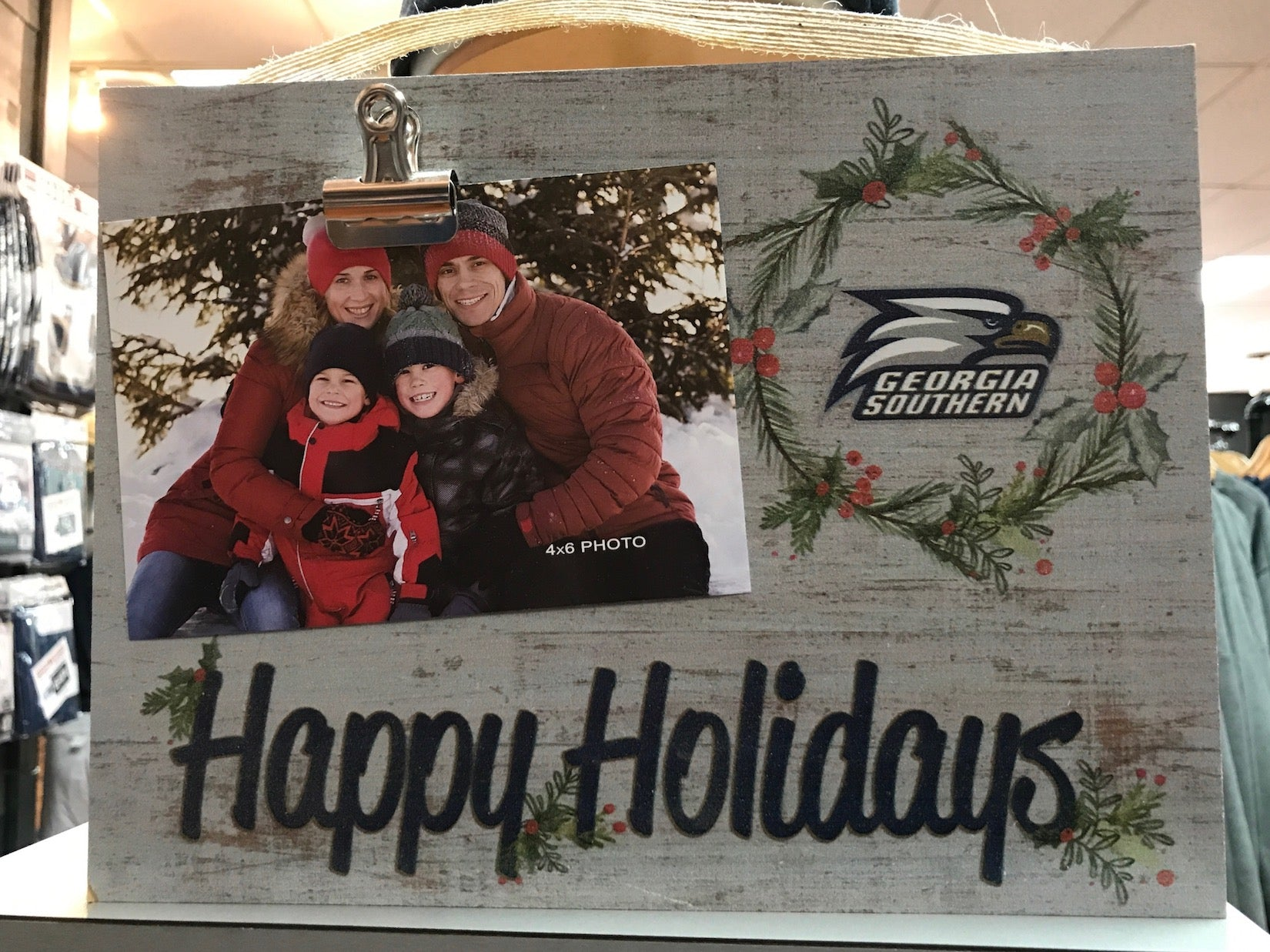 Happy Holidays Memories Picture Clip Frame