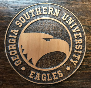 Laser Etched Wood Magnet