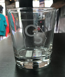 GS State - Etched Glass Tumbler