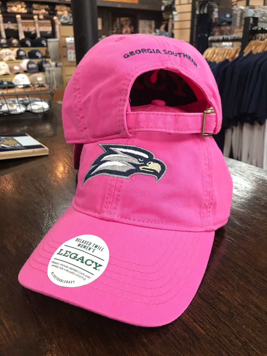 LADIES Athletic Eagle Relaxed Twill Cap - Dark Pink
