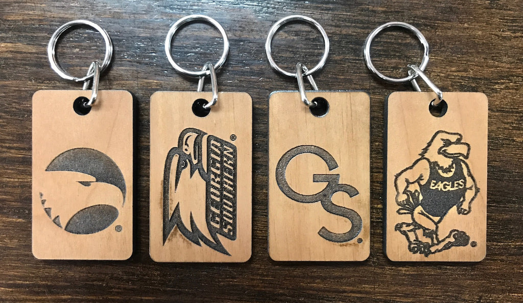 Laser Etched Wood Key Chain