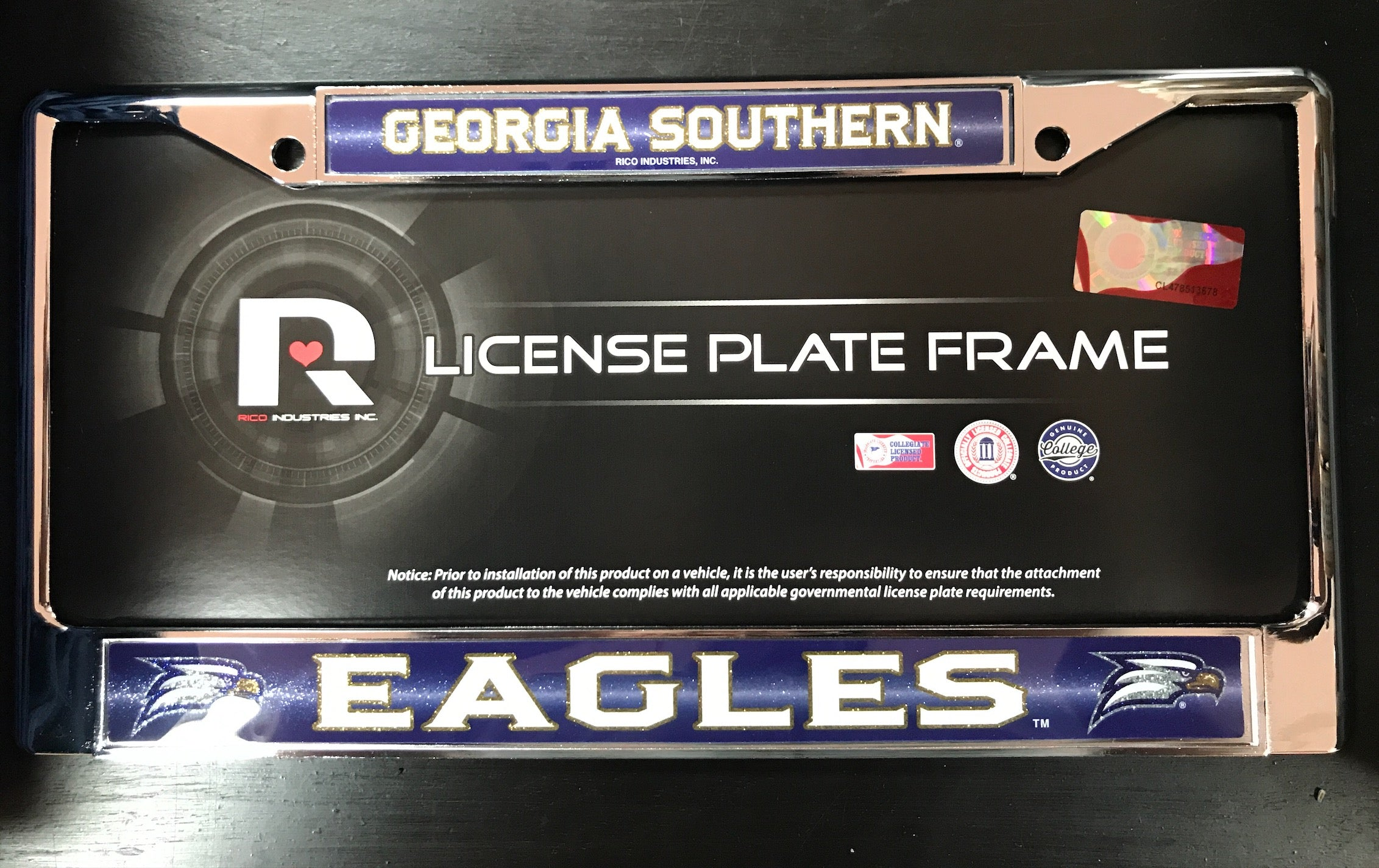 License Plate Frame Sparkle - Metal