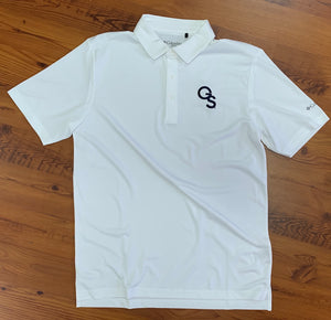 Columbia Omni-Wick White Golf Polo - Interlocking GS