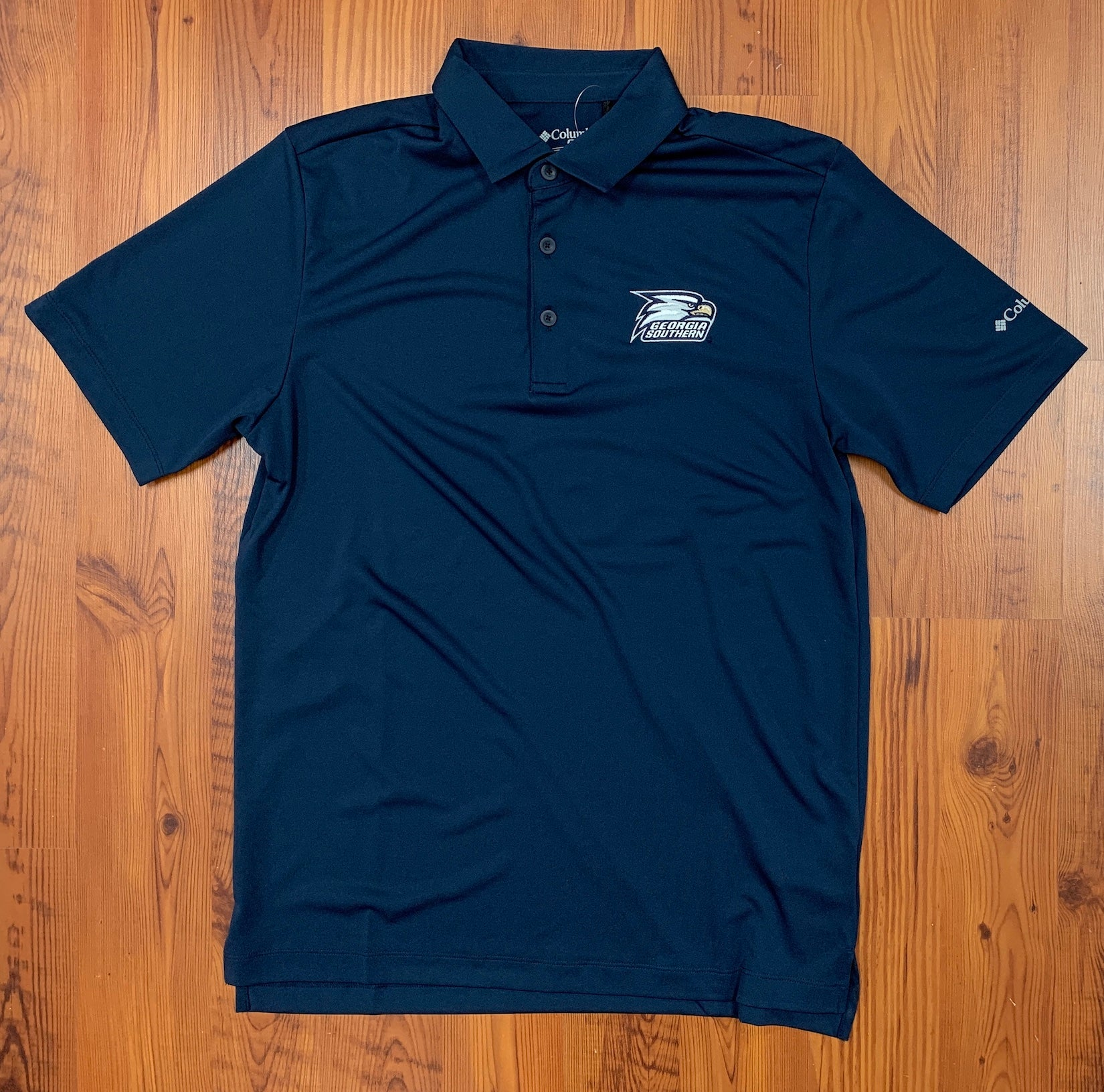 Columbia Omni-Wick Navy Golf Polo - Athletic Eagle Head