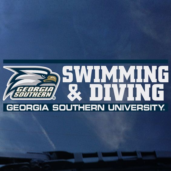 "SWIMMING & DIVING Decal Sticker - 2"" x 6.5"""