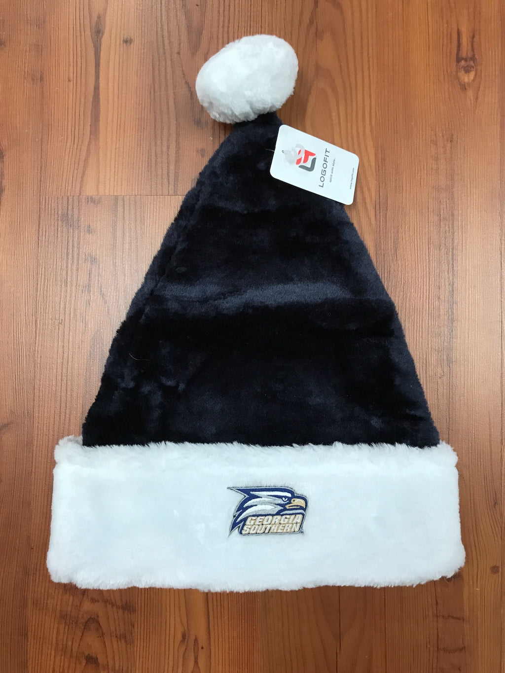 True Blue Santa Hat