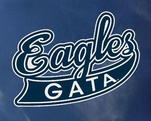 Script Eagles Decal Sticker - 5""