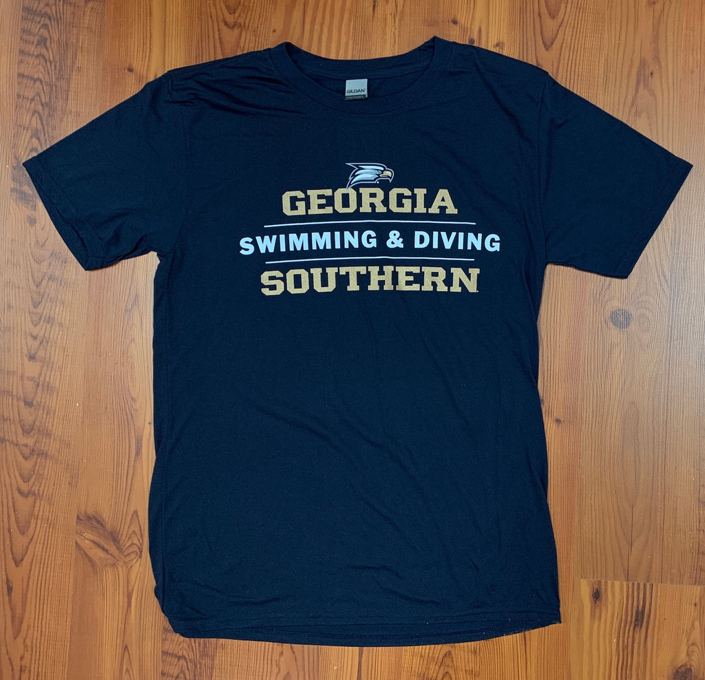 Georgia Southern Swimming & Diving Stacked - Supersoft Performance