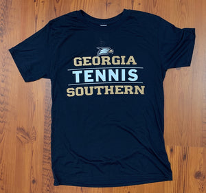 Georgia Southern Tennis Stacked - Supersoft Performance
