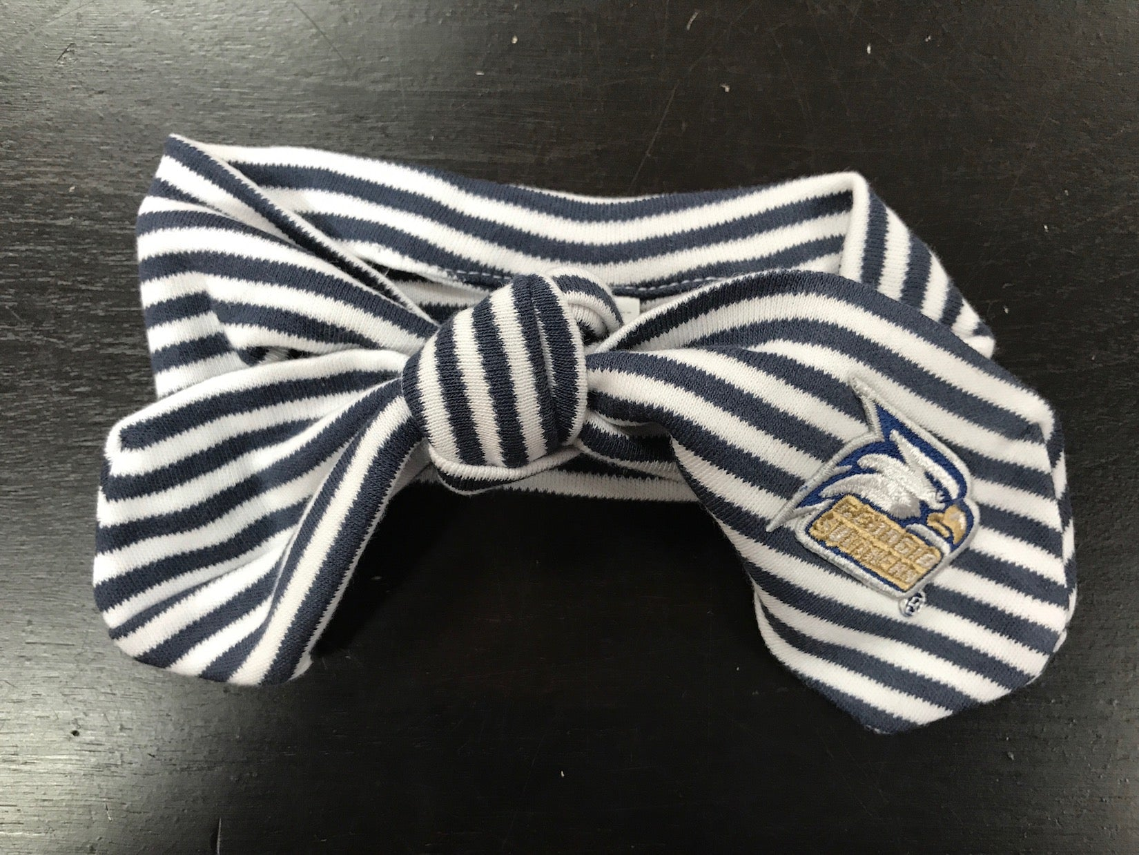 Infant Hairknot - Navy Stripe w/Logo