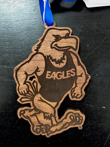 Strutting Eagle Wood Cut Ornament -