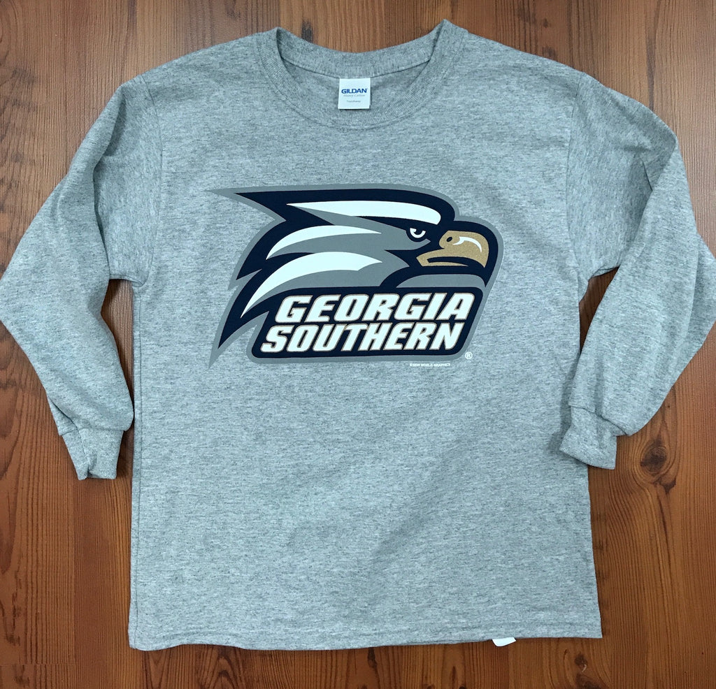 YOUTH Long Sleeve Athletic Eagle Head - Sports Grey