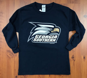 YOUTH Long Sleeve Athletic Eagle Head - Navy