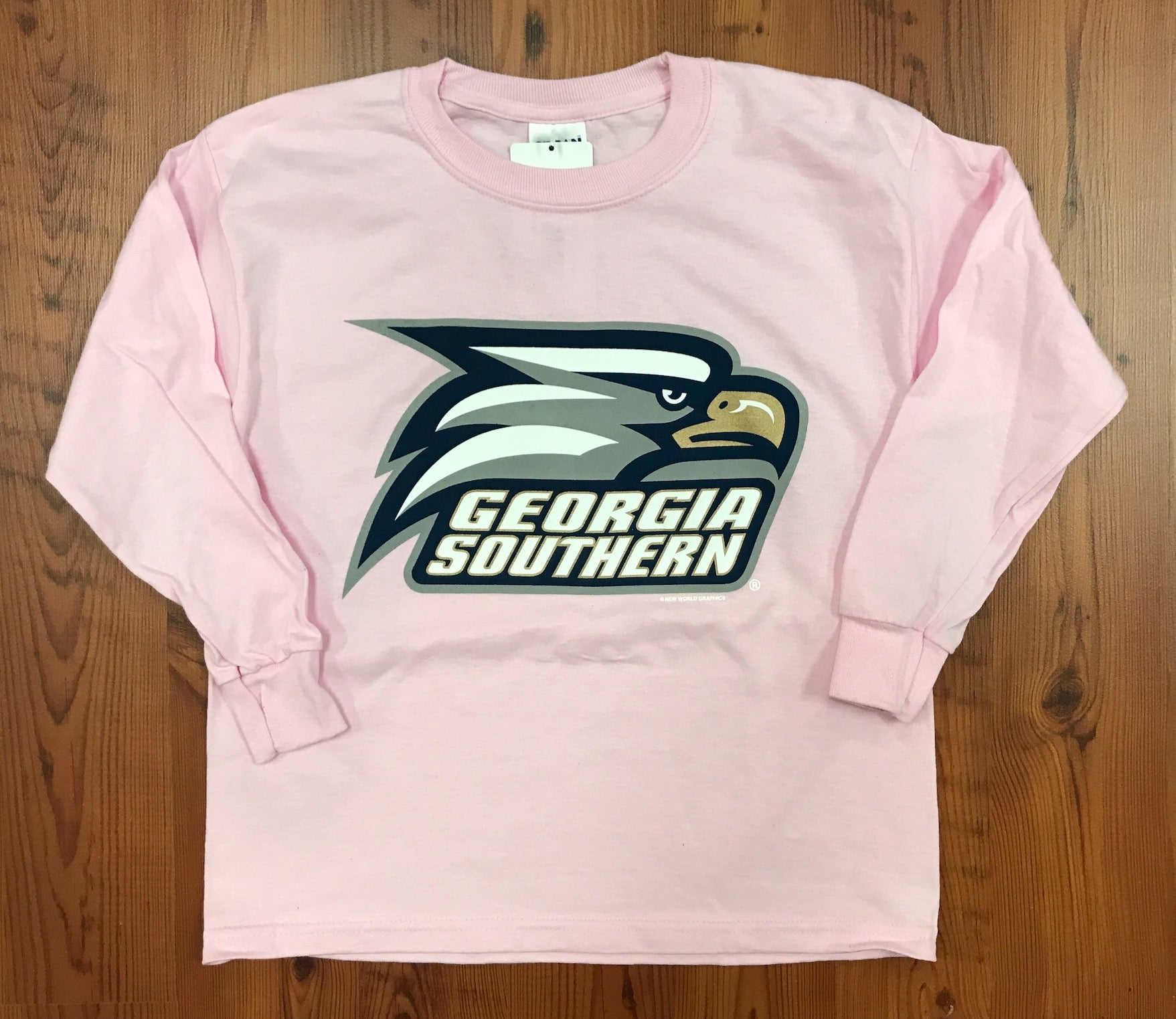YOUTH Long Sleeve Athletic Eagle Head - Pink