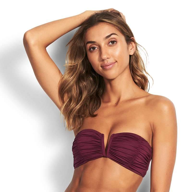 SEAFOLLY RUCHED BANDEAU TOP