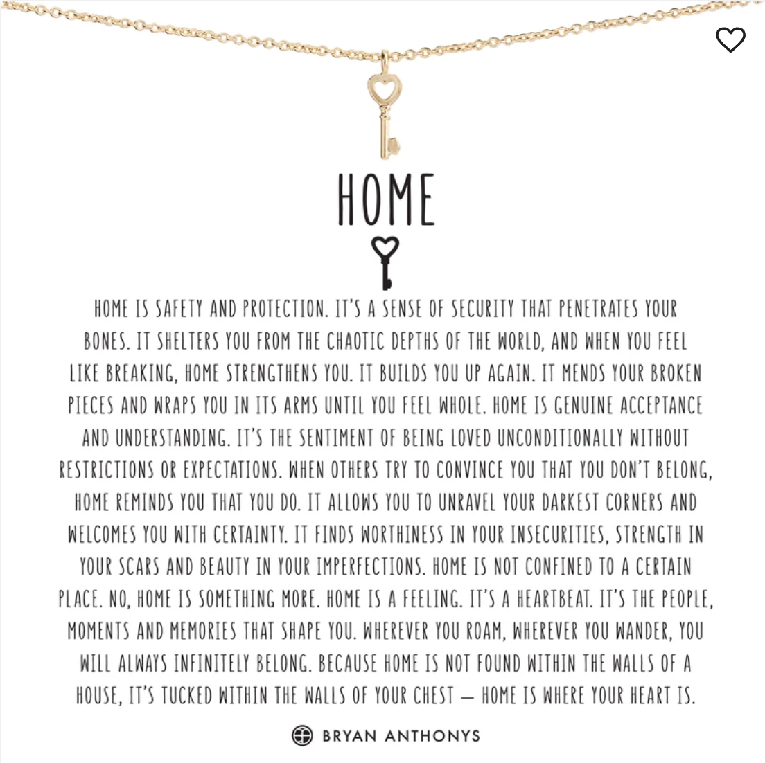 Bryan Anthony's Home Necklace