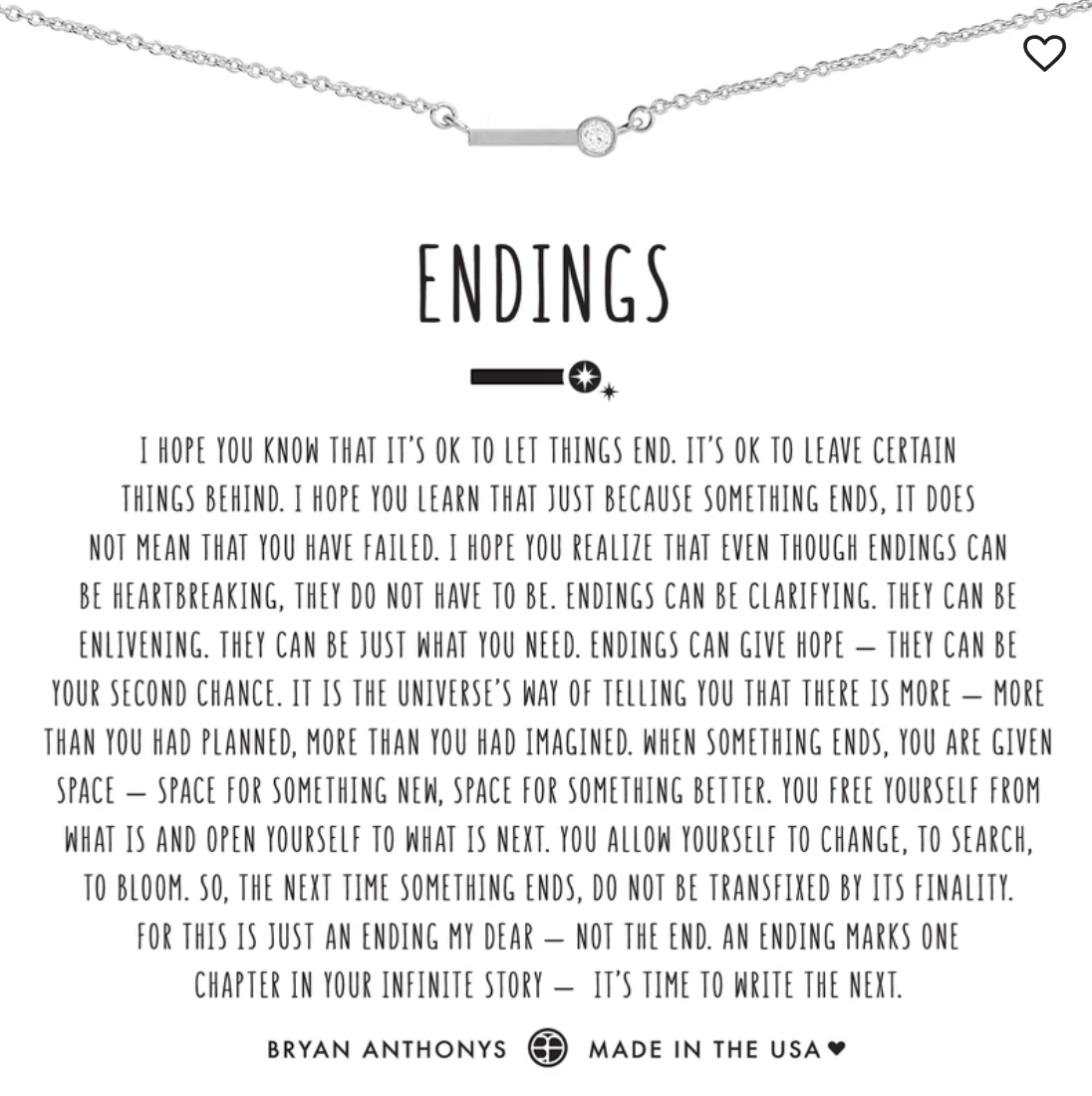 Bryan Anthony's Endings Necklace