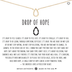 Bryan Anthony's Drop of Hope Necklace