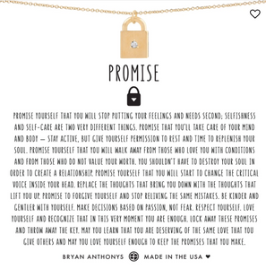 Bryan Anthony's Promise Necklace