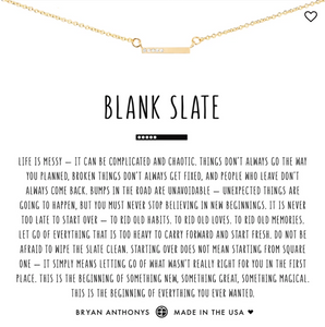 Bryan Anthony's Blank Slate Necklace