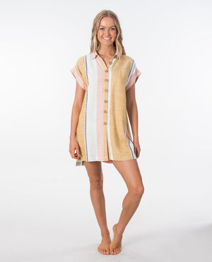 Rip Curl Sunset Stripe Shirt Dress