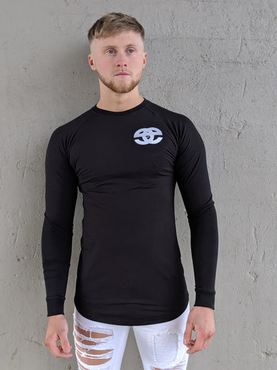 EMENTE BLACK LONG SLEEVE CORE TEE