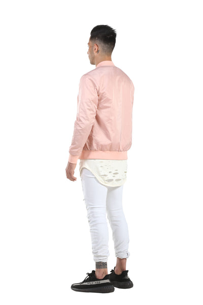 EMENTE - DUSTY ROSE BOMBER JACKET